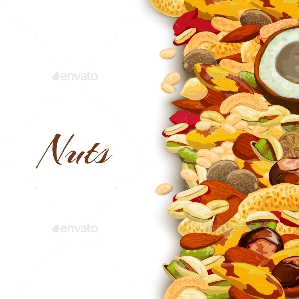 GraphicRiver Nuts Mix Background 9903966