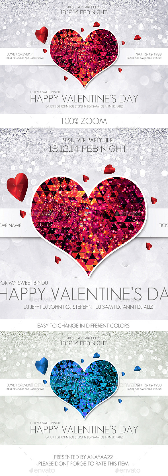 GraphicRiver Valentine s Day Flyer Psd Template 9904022