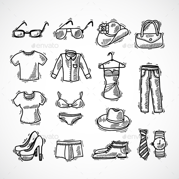 GraphicRiver Fashion Icons Set 9904187