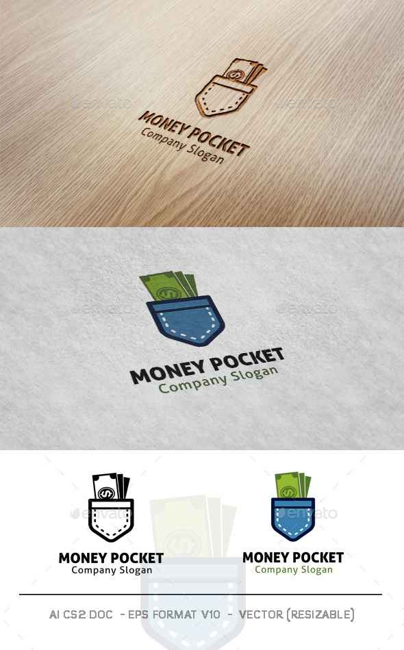 GraphicRiver Money Pocket Logo 9904190