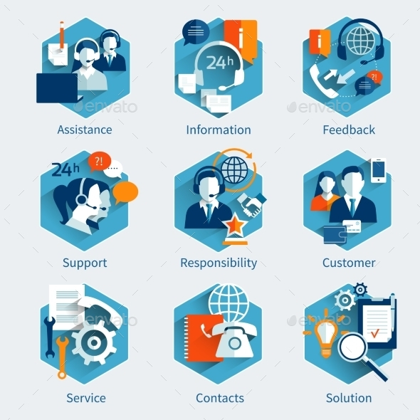GraphicRiver Customer Service Concept Set 9904194