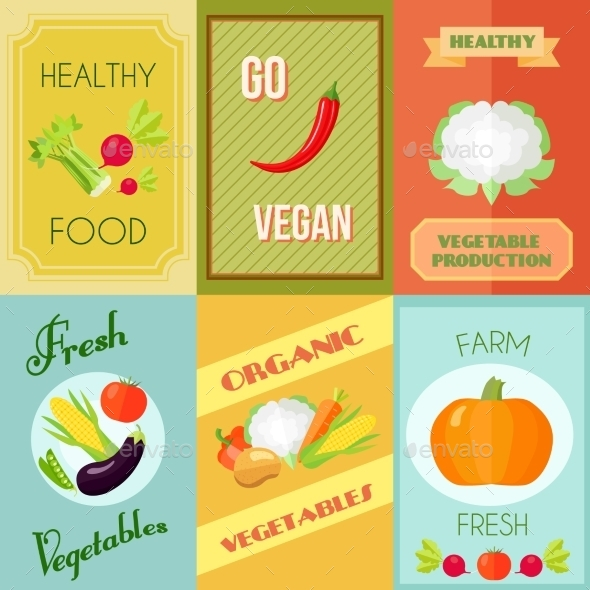 GraphicRiver Healthy Food Mini Poster Set 9904196