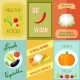 Healthy Food Mini Poster Set - GraphicRiver Item for Sale