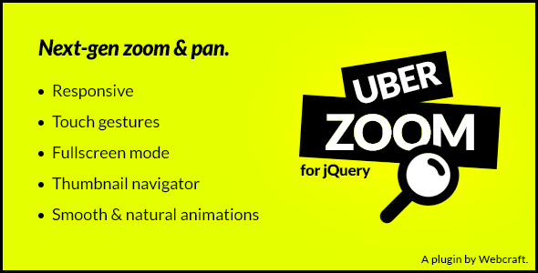 Uber Zoom - jQuery Smooth Zoom & Pan