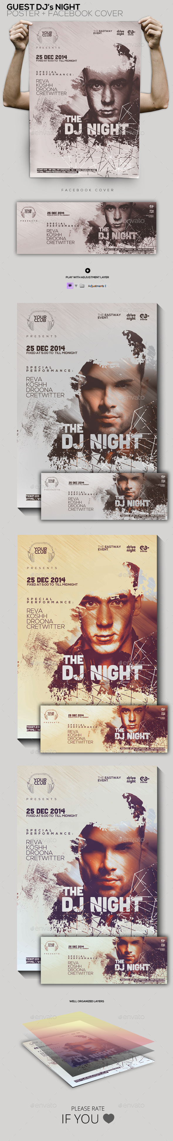 GraphicRiver Guest Dj Party Poster Flyer Facebook Cover 9904253