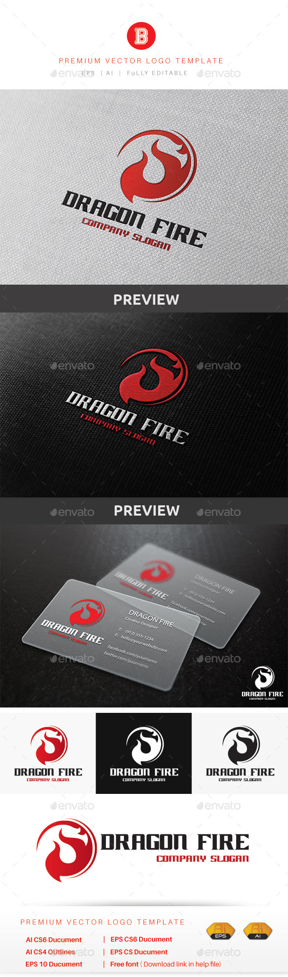 GraphicRiver Dragon Fire 9904271
