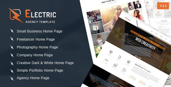ThemeForest - Electric - Multipurpose HTML Site Template | HTML/CSS
