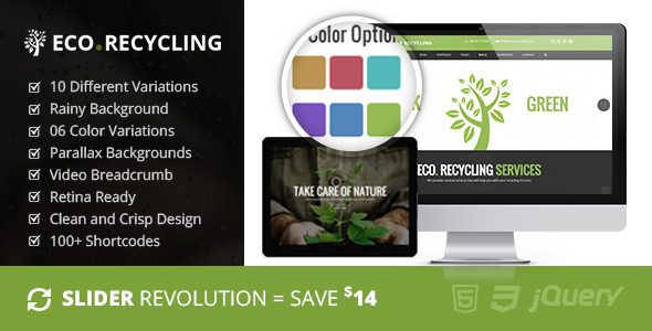 ThemeForest Eco Recycling A Multipurpose Template 9850285