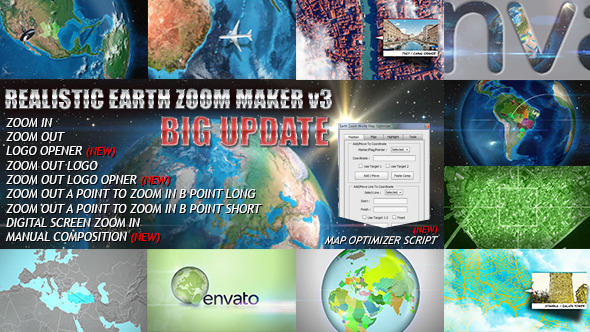 Realistic Earth Zoom Maker