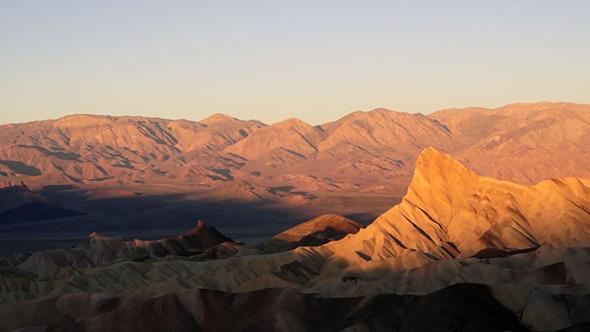 Sunrise on Badlands Death Valley Zabriskie Point