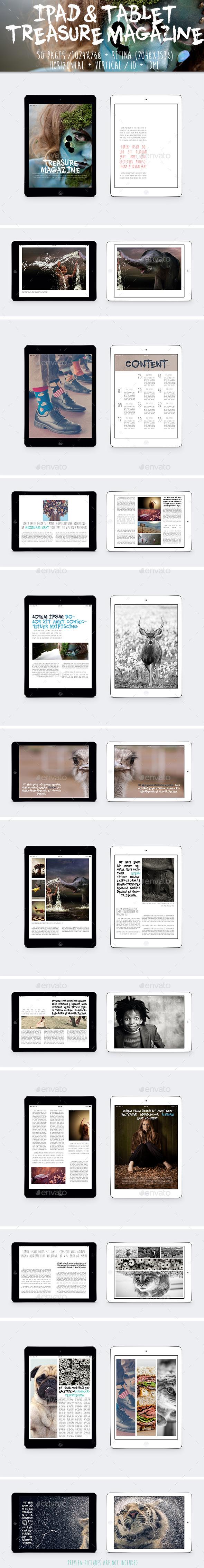GraphicRiver Ipad & Tablet Treasure Magazine 9904683