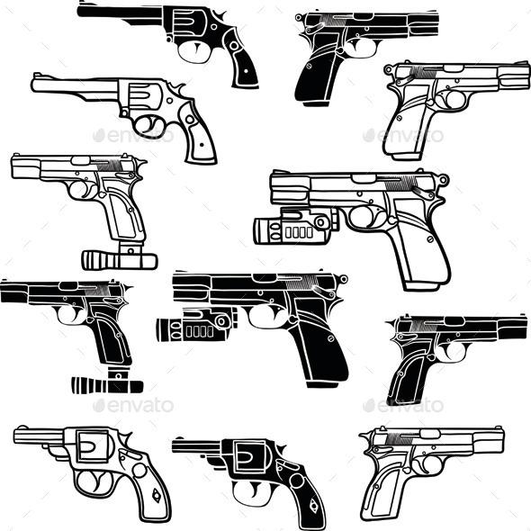 GraphicRiver Pistols 9904687