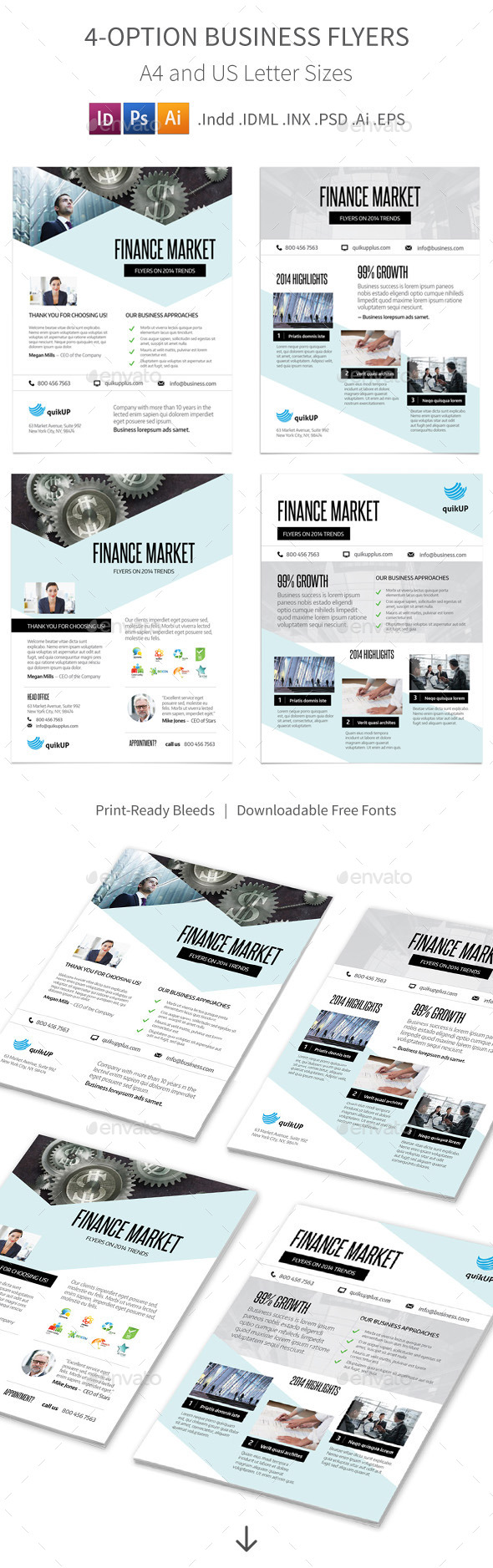 GraphicRiver Business Flyers 4 Options 9904856