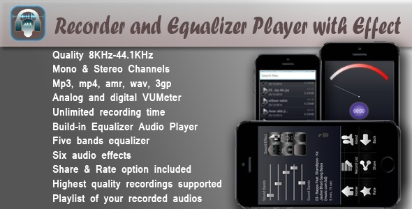 CodeCanyon Recorder and Equalizer Player with Effect 9904887