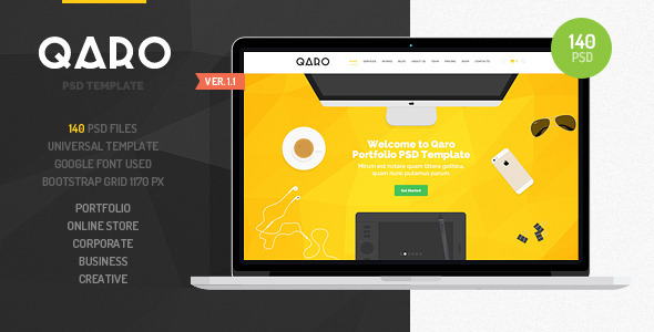 QARO Clean & Modern PSD Template