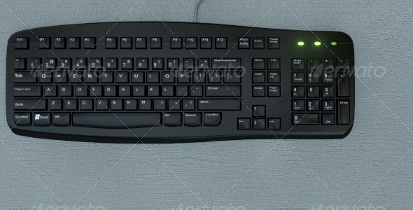 3DOcean Realistic keyboard 83932