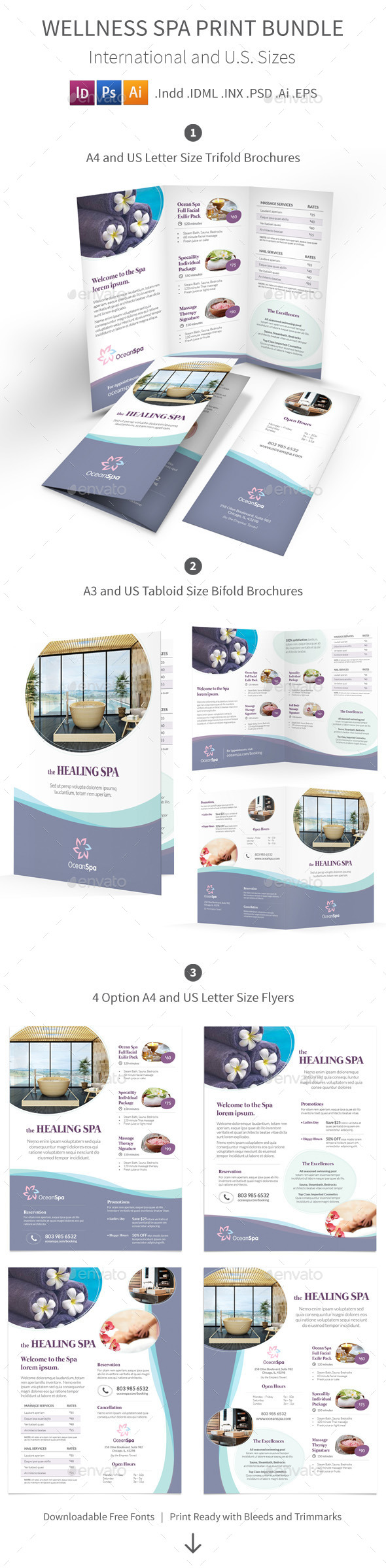 GraphicRiver Wellness Spa Print Bundle 9905430