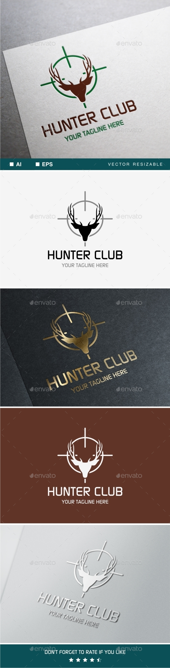 GraphicRiver Hunter Club Logo 9905633