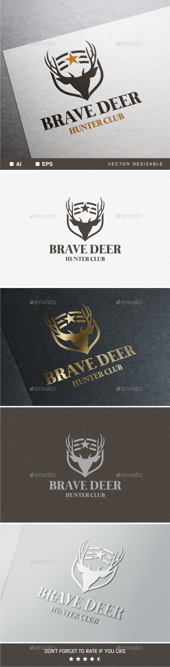 GraphicRiver Brave Deer Logo 9905637