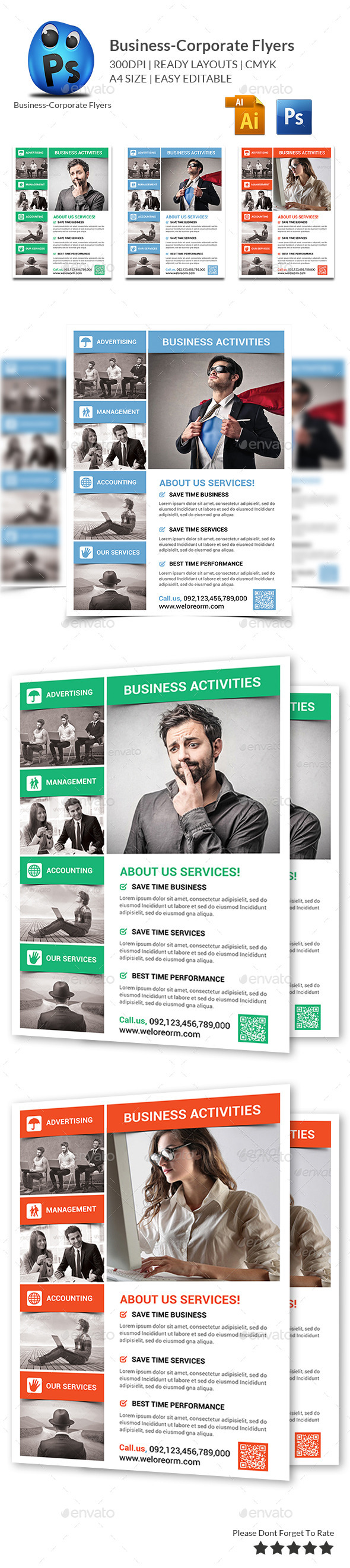 GraphicRiver Corporate Business Flyer Template 9905728