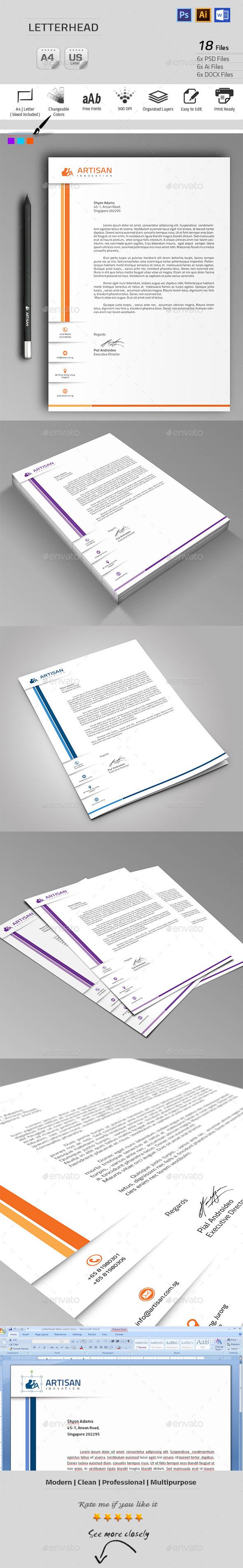 GraphicRiver Letterhead 9905911