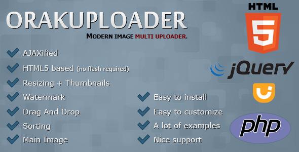CodeCanyon OrakUploader Modern Image Multi Uploader 9866490