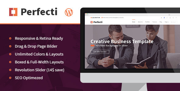 ThemeForest Perfecti Business MultiPurpose Theme 9298963