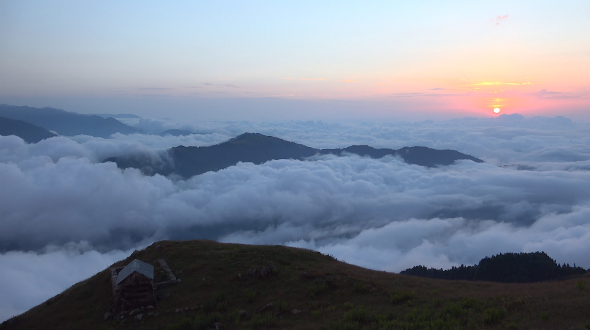 Magnificent Sunset Above Clouds 1