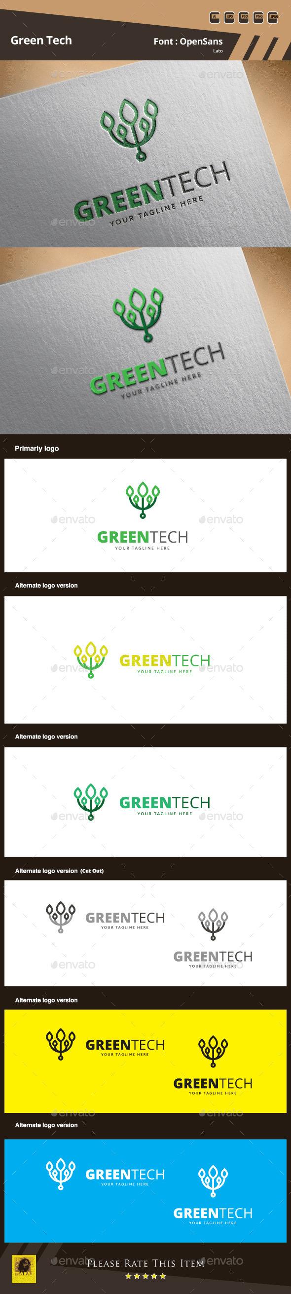 GraphicRiver Green Tech Logo Template 9906286