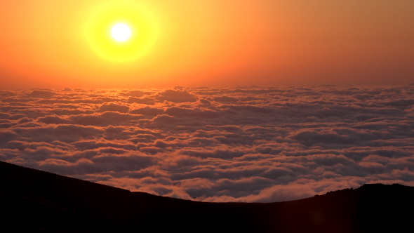 Magnificent Sunset Above Clouds 2