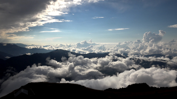 Spectacular Landscape Above the Clouds 1