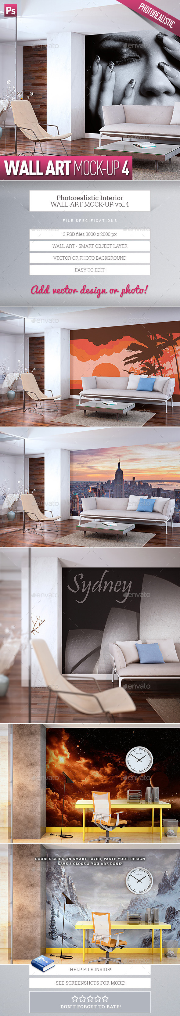 GraphicRiver Wall Art Mock-Up vol.4 9906600