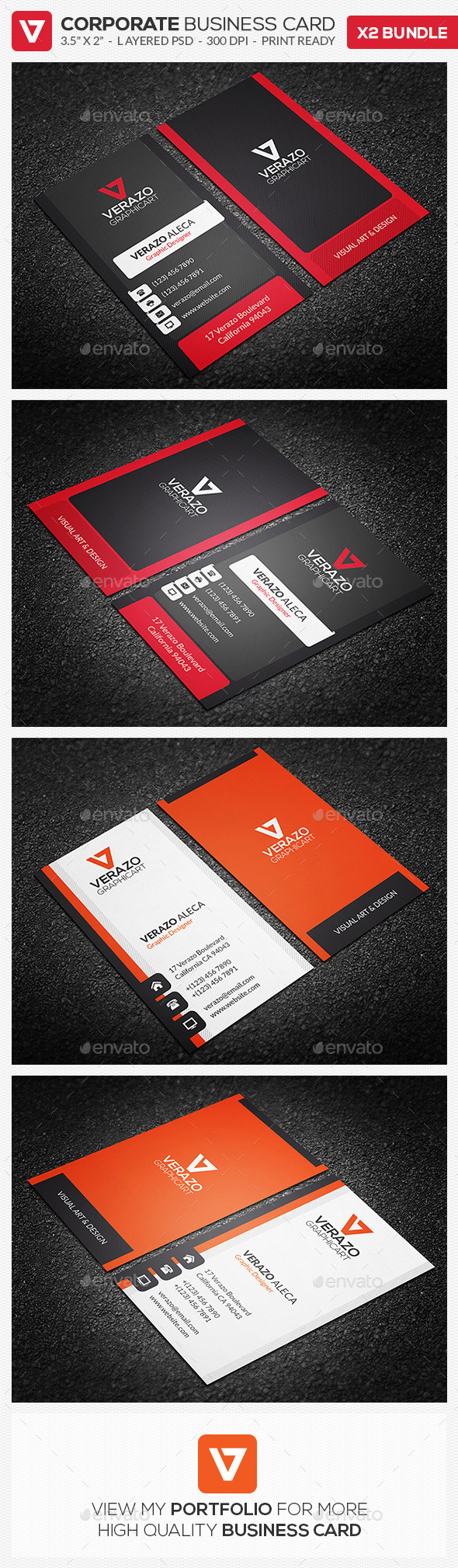 GraphicRiver Business Card Bundle 12 9907036