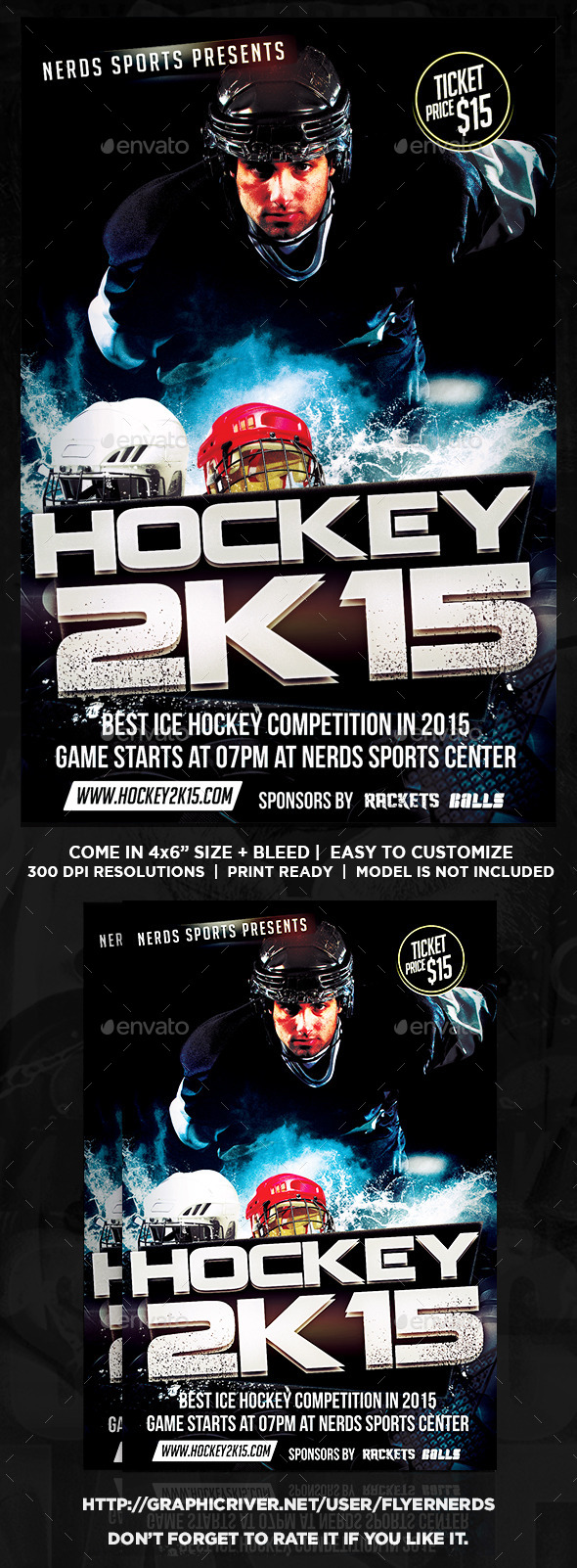 GraphicRiver Ice Hockey Tournament Sports Flyer 9907056