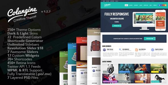 Colangine - Creative Flat WordPress Theme + RTL - Creative WordPress