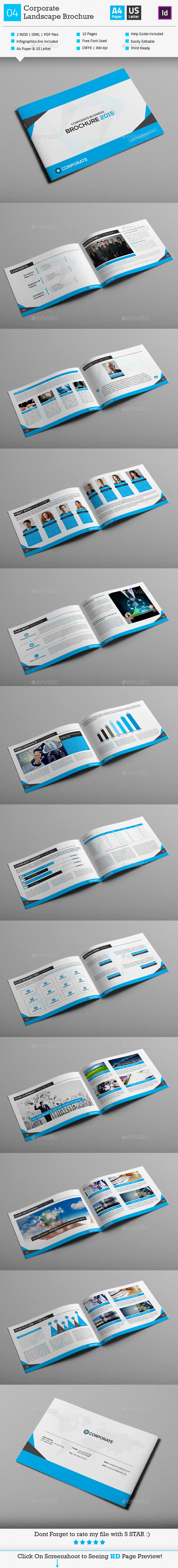 Corporate Business Brochure 04 Landscape