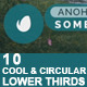 Cool and Circular Lower Thirds - VideoHive Item for Sale