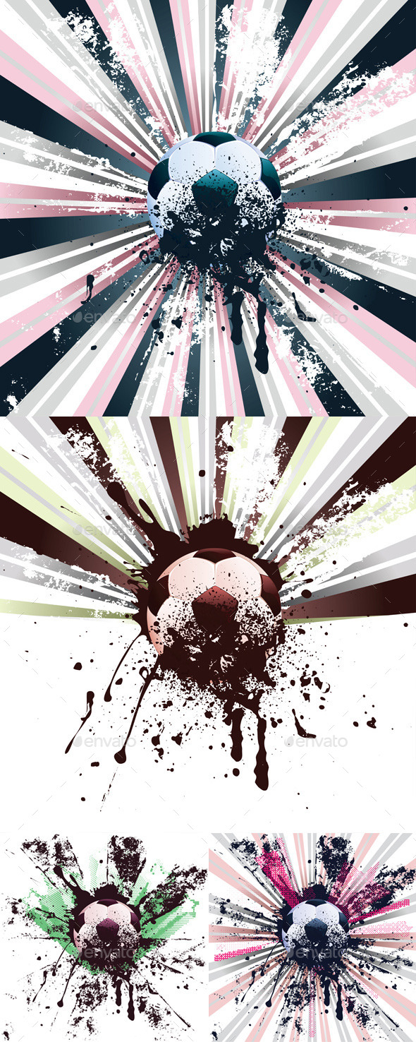 GraphicRiver Grunge Soccer 9908038