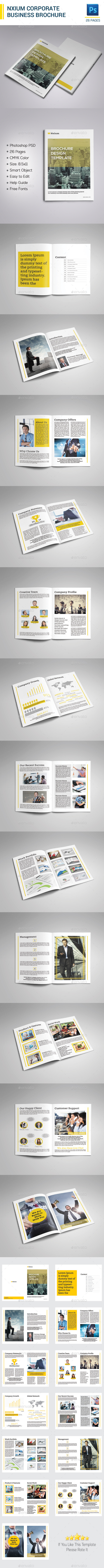 GraphicRiver Nxium Brochure Template 9908100