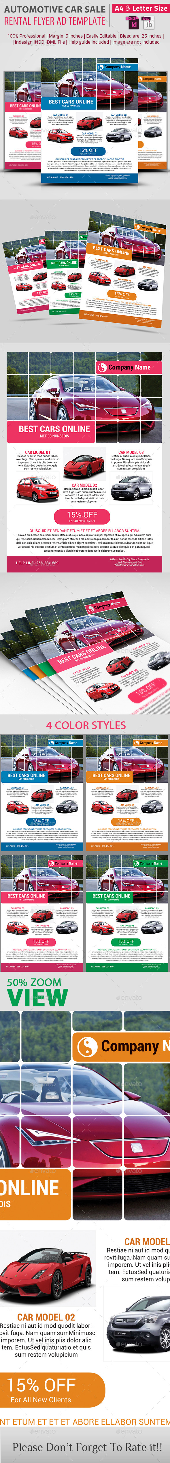 Automotive Car Sale Rental Flyer Ad Template