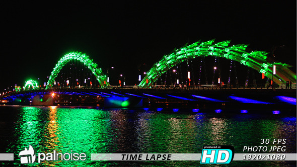Dragon Bridge Asia LED Lights