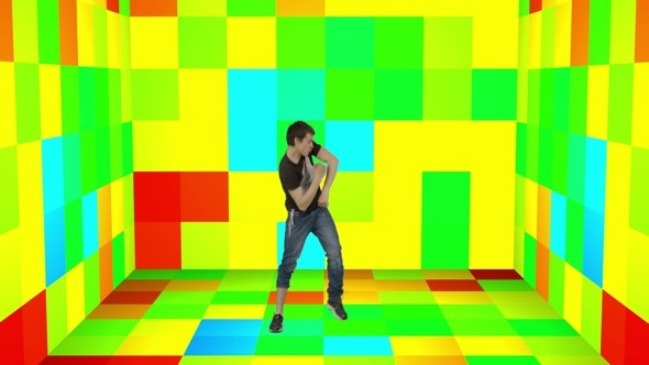 Crazy Dance on Color Cube