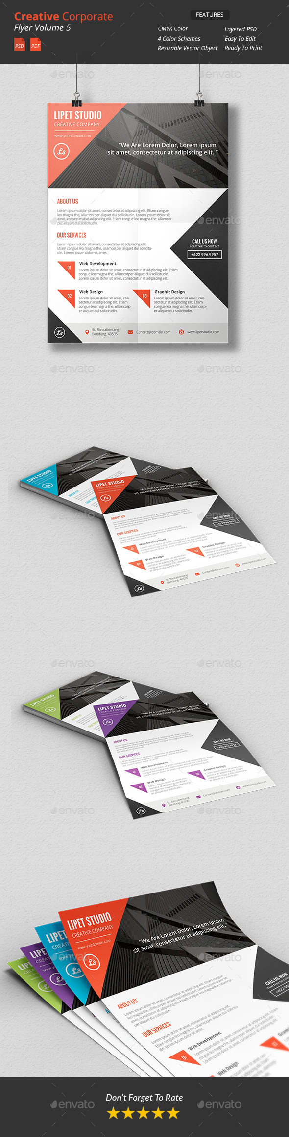GraphicRiver Creative Corporate Flyer v5 9908150