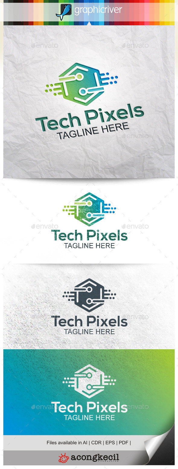 GraphicRiver Technology Pixels 9908180