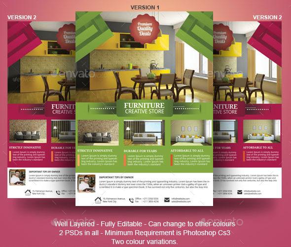 furniture flyer template by adburst