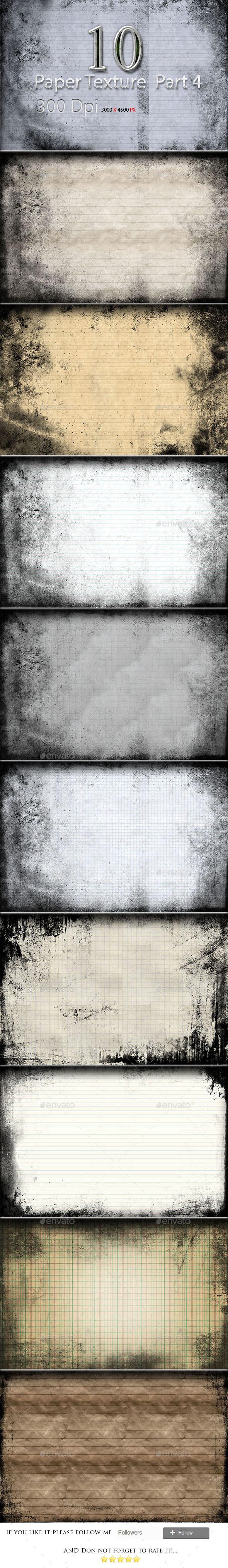 GraphicRiver 10 Paper Texture Part 4 9908403
