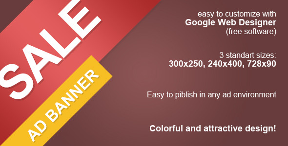 CodeCanyon HTML5 Sale Ad Banner 9908419