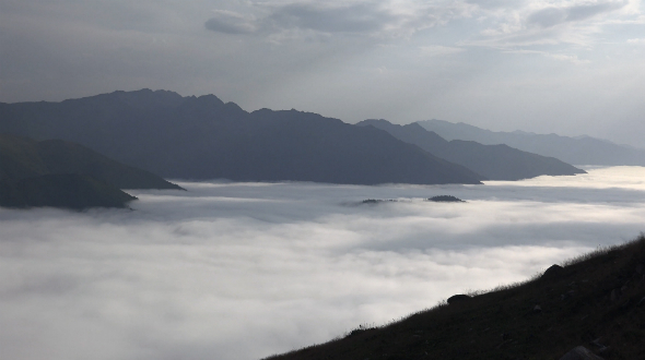 Spectacular Landscape Above the Clouds 3