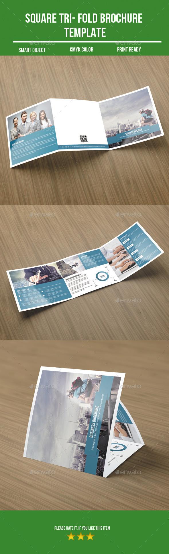 GraphicRiver Square Tri- Fold Business Brochure 9909580