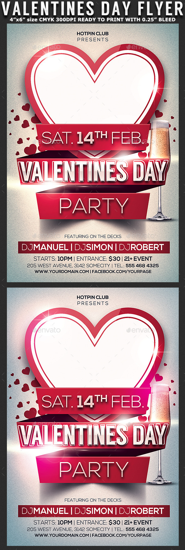 GraphicRiver Valentines Day Party Flyer Template 9909650